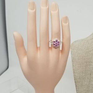 Jewelry - Lab Created Pink Sapphire Sterling Silver ring